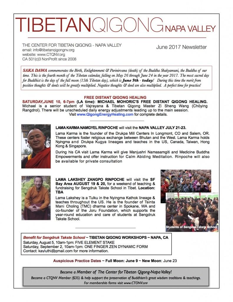 CTQNV newsletter June 2017